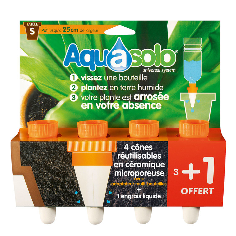 Aquasolo orange small x4 466733