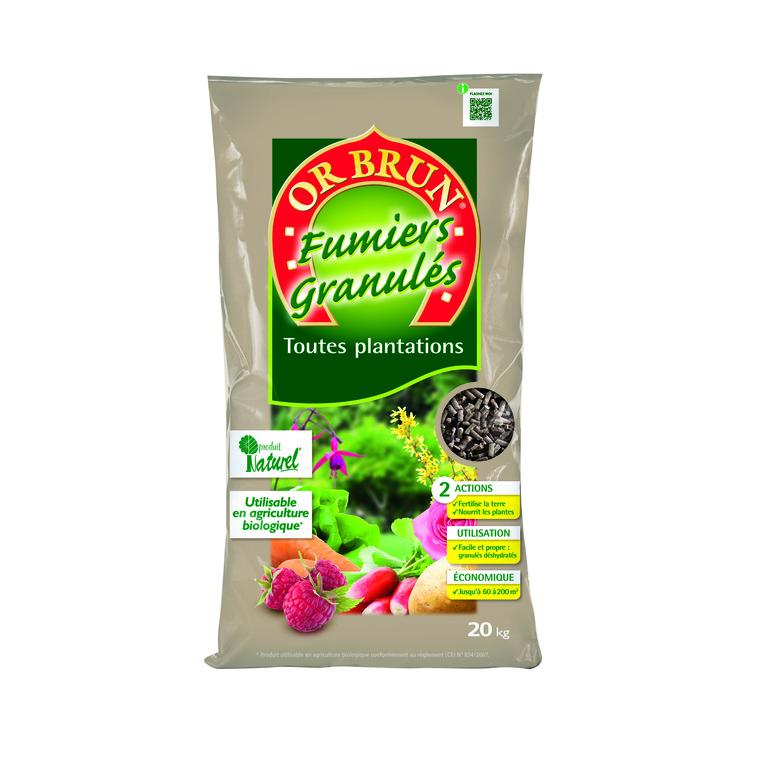 Fertilisant Or Brun en granulés 20 kg