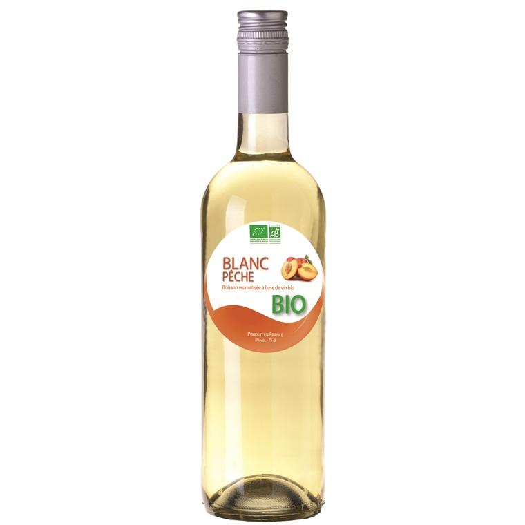 "Boisson arômatisée bio à base de vin ""Blanc pêche"" SIROP MENEAU 46897"