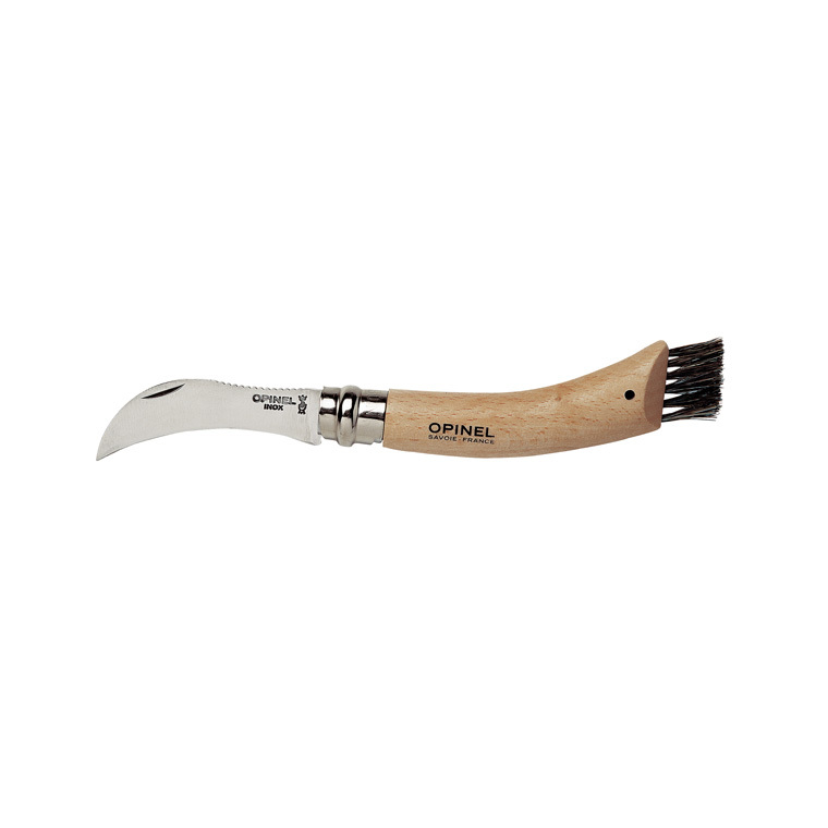 Couteau à champignon Opinel n°8 avec brosse 474484