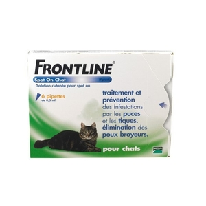 Frontline spot on chat pipettes antiparasitaire x6
