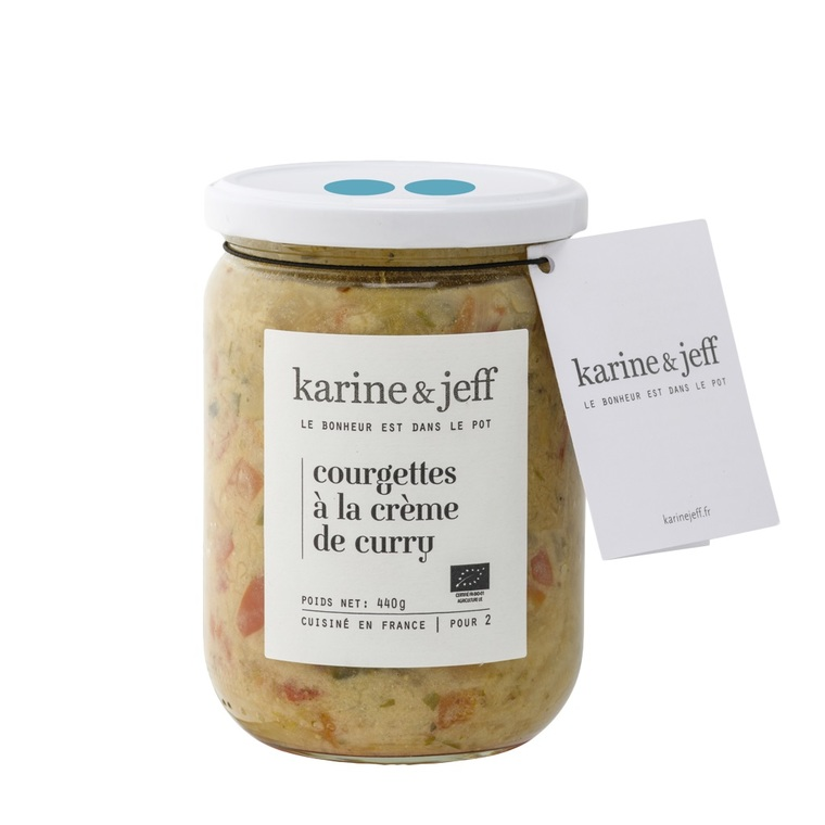 Courgettes bio à la crème de curry 440 g 47823