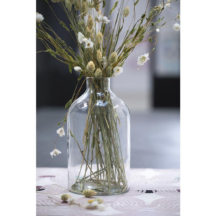 Vase en verre transparent de 12,5 x 12,5 x 23 cm 479977