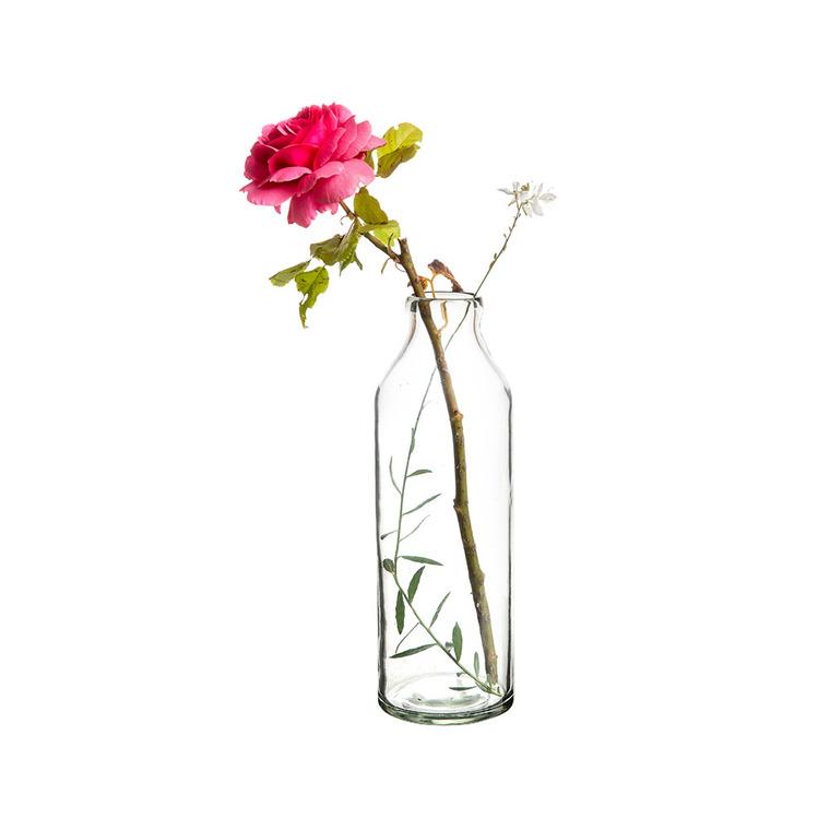 Vase en verre transparent de 10 x 10 x 30 cm 479978