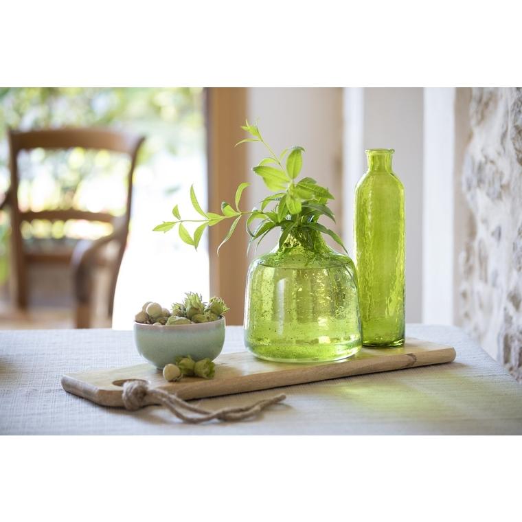 Bouteille en verre vert 7.5 x 7.5 x 30 cm 479979