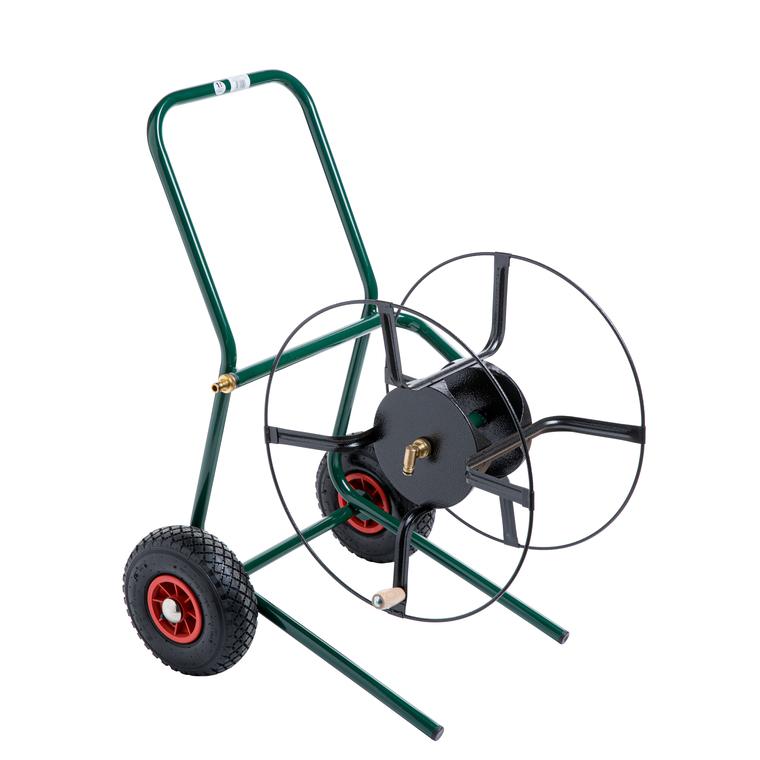 Dévidoir sur roues vert 120 m 481526