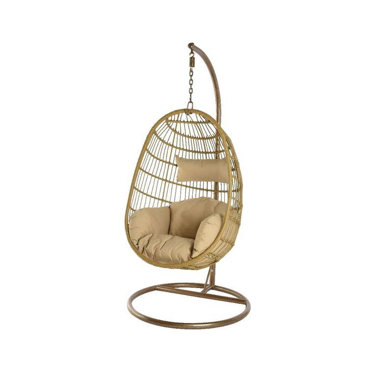 Chaise à suspendre Corsica couleur bois - 95 x 95 x 195 cm 486706