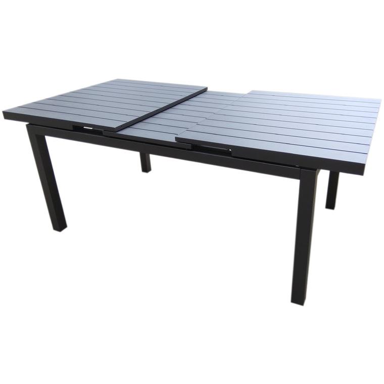 Table rectangulaire extensible Carlina noire 160/210 x 80 cm 487265