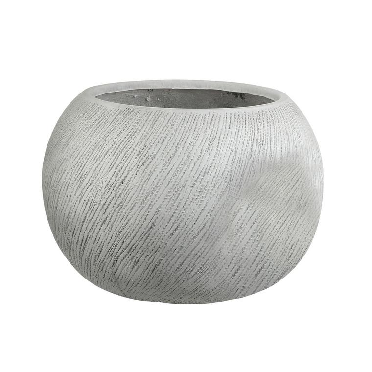 Pot rond Linea coloris blanc de 28 L Ø 36 x 28 cm 487372