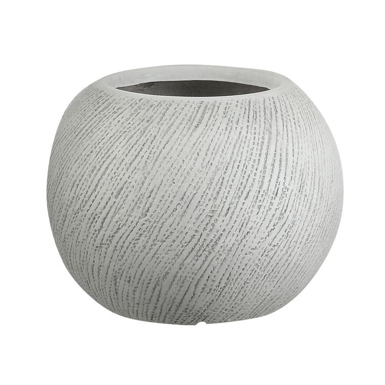 Pot rond Linea coloris blanc de 88 L Ø 55 x 37 cm 487373