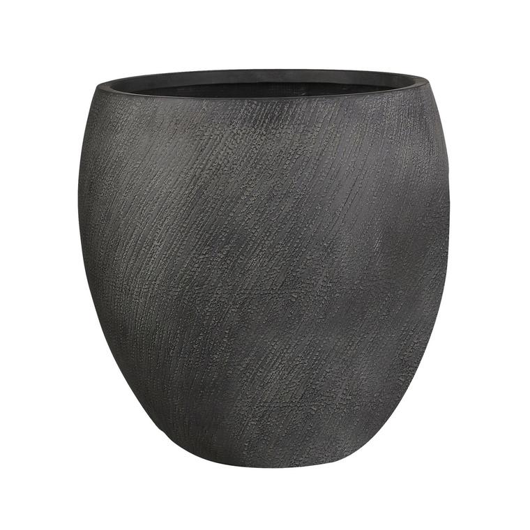 Pot rond haut Linea coloris noir de 130 L Ø 55 x 55 cm 487376
