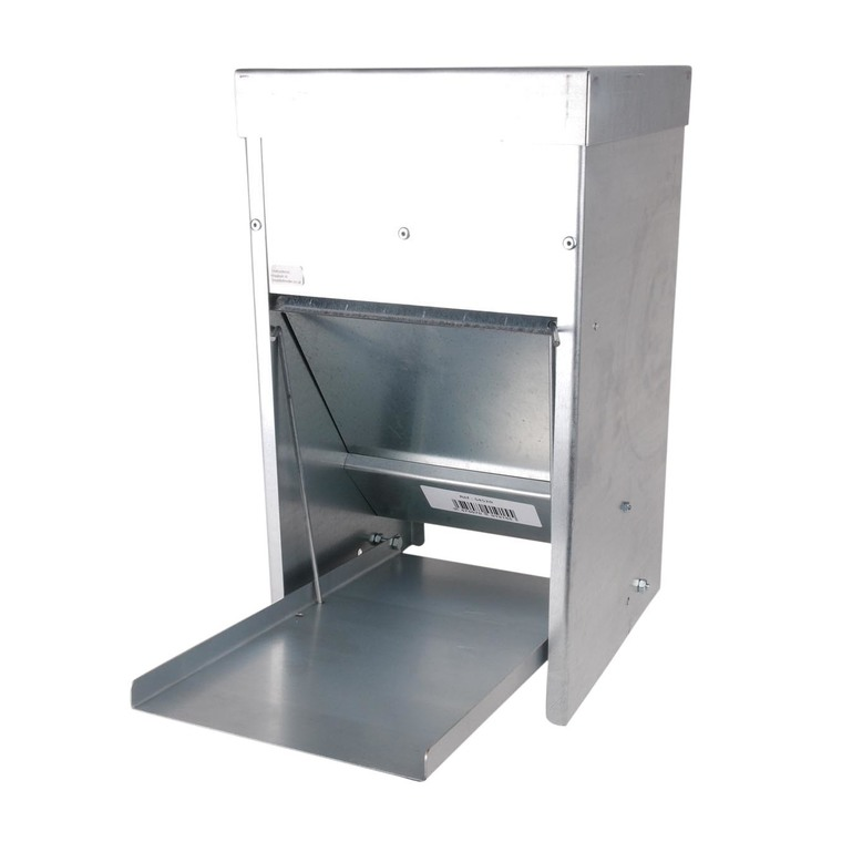 Mangeoire en acier galvanisé anti nuisible de 8 kg 487525