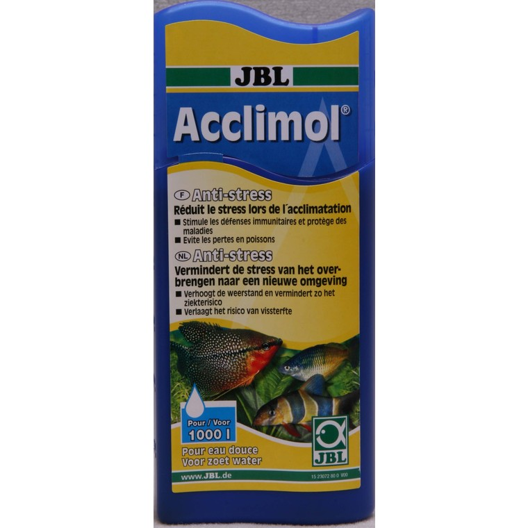 Conditionneur d'eau acclimol Jbl bleu 250 ml 494630