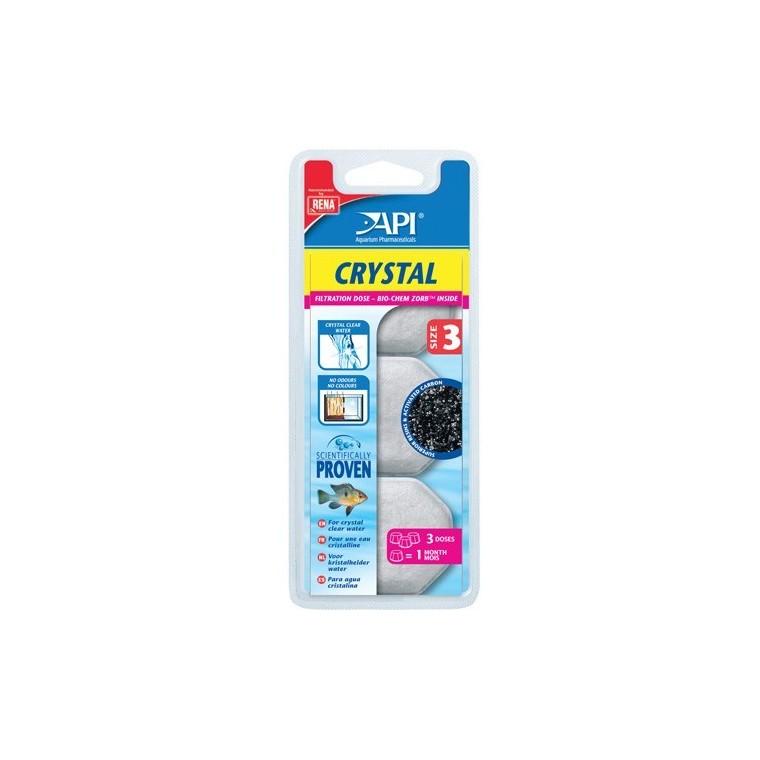 Recharge Filtre aquarium API Rena Crystal taille size 3 x3 494742