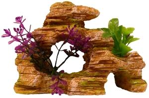 Décor aquarium rocaille zen ocre 17cm