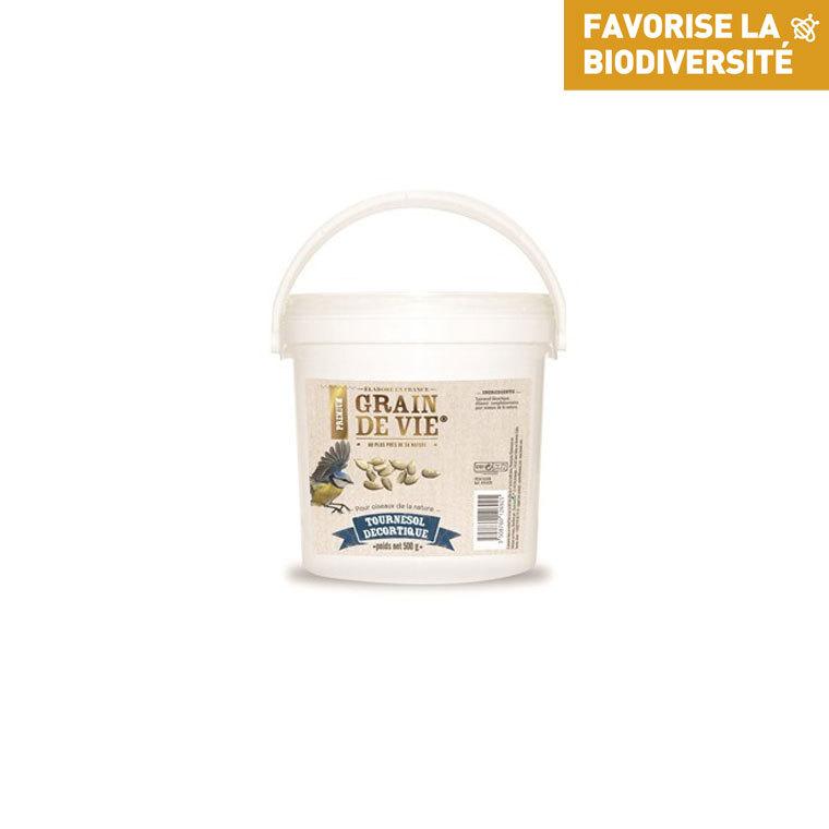 Seau cœur de tournesol premium pour oiseaux 500 g 495429