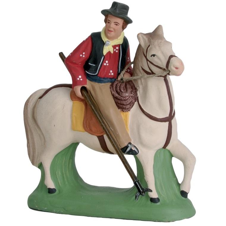 Gardian à cheval 7 cm