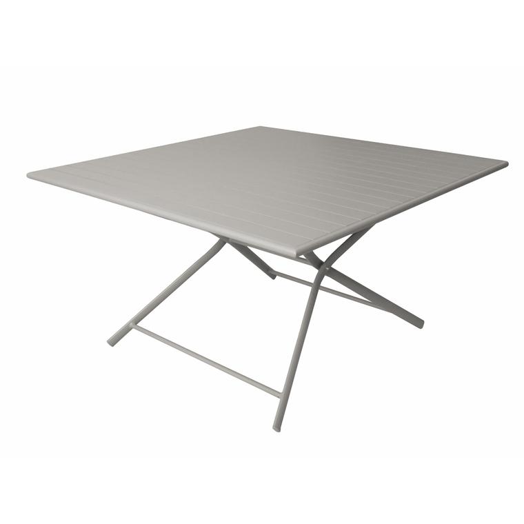 Table pliante carrée Max taupe 130 x 130 x 73 cm : Tables de jardin ...