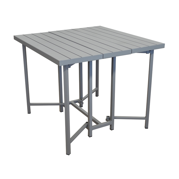 Table carrée rabattable Max coloris taupe 90 x 90 x 75 cm : Tables ...
