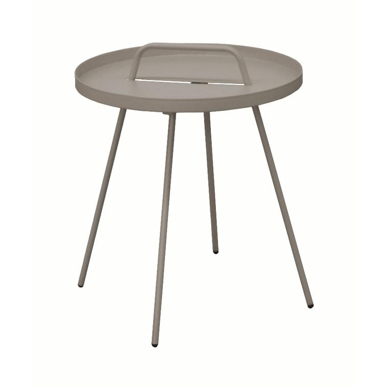 Table basse nomade en acier coloris taupe Ø 51 H 44 cm : Salons de ...
