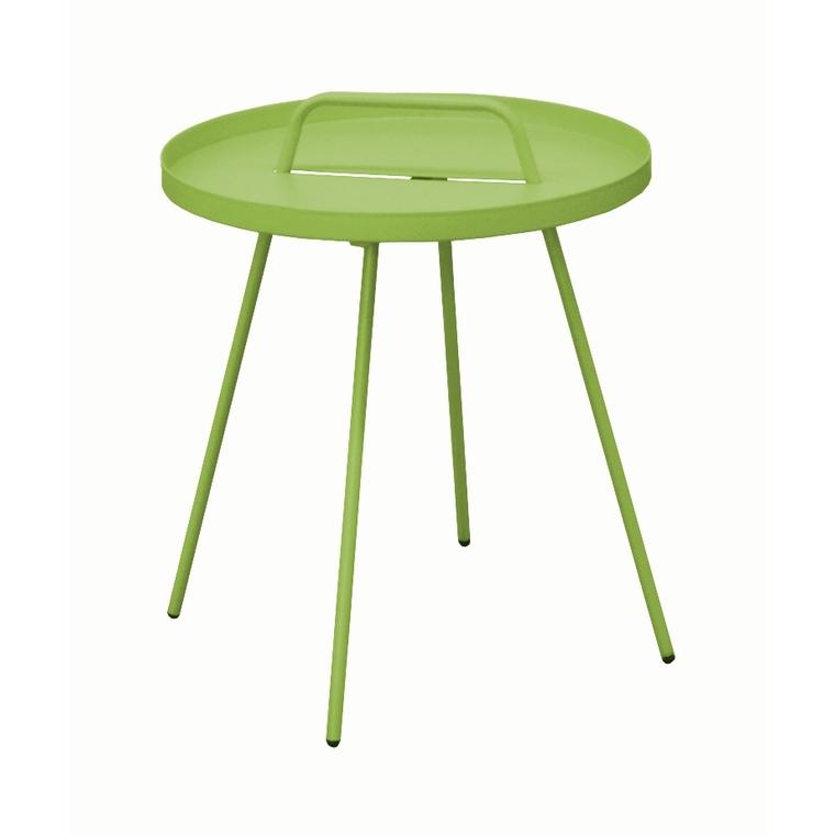 Table basse nomade en acier coloris vert mousse Ø 51 H 44 cm ...