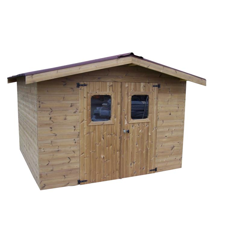 Abri en bois massif THE 342x302x235 cm avec montage gratuit : Abris ...