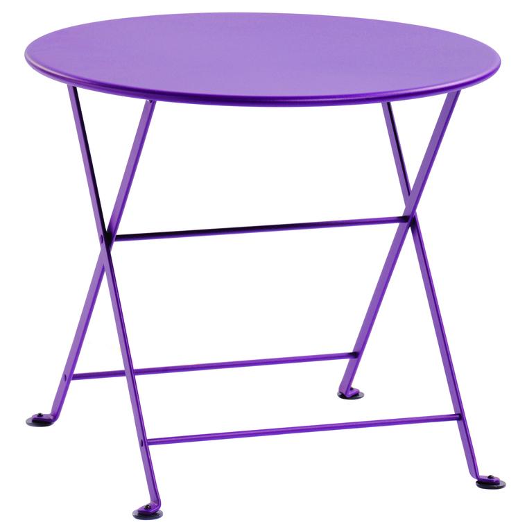 Table basse en acier couleur Aubergine : Tables et chaises de jardin ...