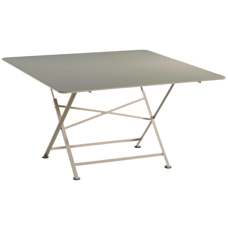 Table pliante carrée couleur Muscade L 128 x l 128 x H 74 cm ...