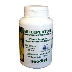 Gélules de millepertuis bio en boite de 200 unités 50141