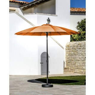 Parasol pagode à manivelle coloris orange Ø 300 cm 501725