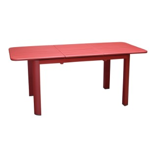 Table rectangulaire à rallonge Oro rouge 130/180 x 80 cm 501740