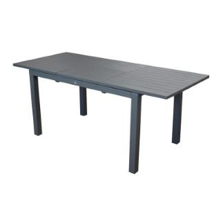 Table caméline à rallonge coloris gris 200/280 x 98 x 75 cm 501750