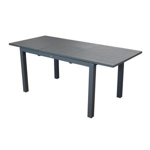 Table caméline à rallonge coloris gris 180/240 x 98 x 75 cm 501806