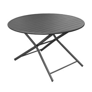 Table pliante ronde Max grise Ø 120 x 74 cm 501815