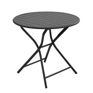 Table pliante ronde Max grise Ø 80 x 74 cm 501816