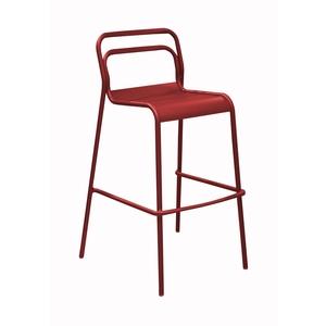 Chaise haute Oro rouge en aluminium 60 x 54 x 104 cm 501840