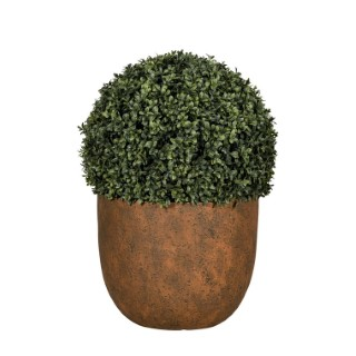 Pot rond Beaumont coloris rusty de 5 L Ø 24 x 19,5 cm 504175