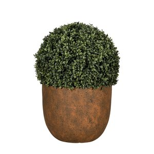 Pot rond Beaumont coloris rusty de 14 L Ø 37 x 30 cm 504177