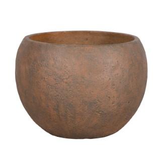 Pot boule Beaumont coloris rusty de 27 L Ø 50 x 36 cm 504183