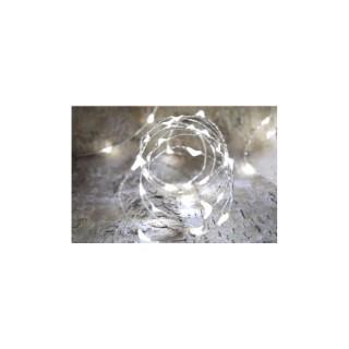 Guirlande solaire extérieure 150 micro LED blanc pur L 15 m 504465