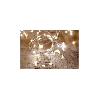 Guirlande solaire 75 micro LED blanc chaud L 7,5 m 504469