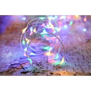 Guirlande solaire 75 micro LED multicolore L 7,5 m 504470