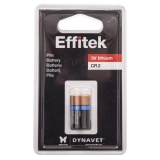 Pile CR2 3V lithium pour collier anti aboiement Effitek 50459