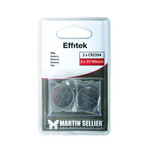 Lot de 2 piles CR2354 pour télécommande Effitek 50460