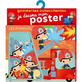 Les Pompiers Je Décore mon Poster avec les Gommettes 3 ans Éditions Lito 504695