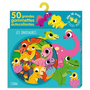 Les Dinosaures Gommettes pour les Petites Mains 18 mois Éditions Lito 504729