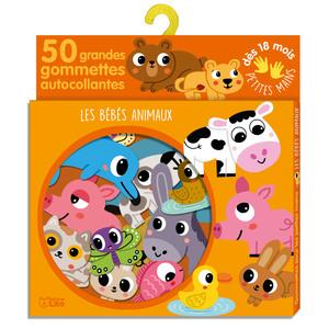 Les Bébés Animaux Gommettes pour les Petites Mains 18 mois Éditions Lito 504730