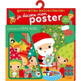 Gommettes je décore mon poster atelier du père Noël éditions Lito 504731