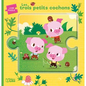 Les Trois Petits Cochons Minicontes Puzzles de 0 à 3 ans Éditions Lito 504757
