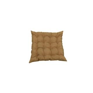 Assise futon carrée 16 Cap Colors Taupe en polycoton 504888
